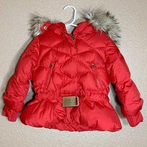 Ralph Lauren toddler girl red down puffer jacket